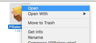 Installing PiBakery on Mac