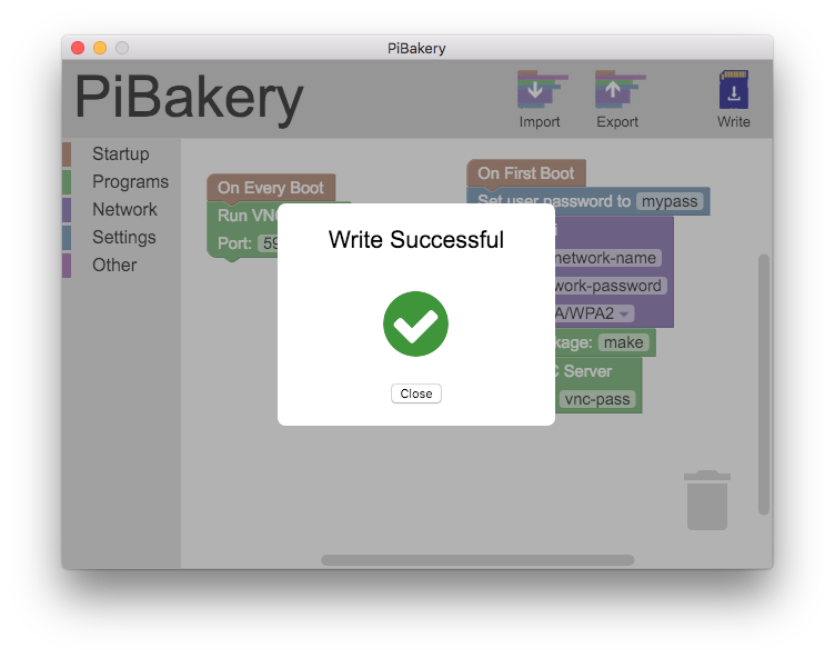Creating an SD card with PiBakery